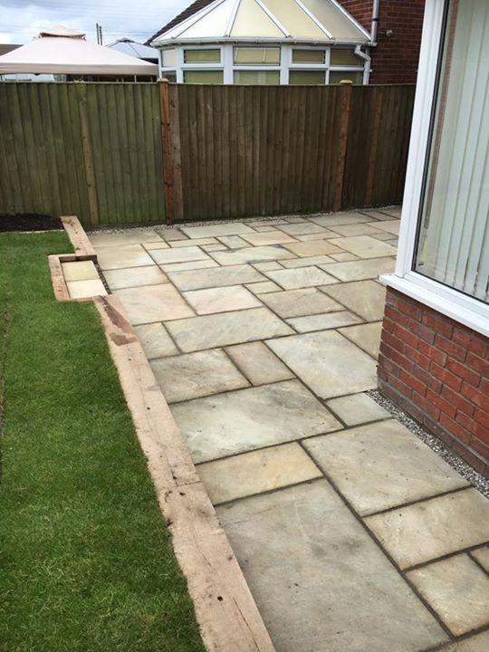 Complete Garden Make Over New Patio Area Oak Sleeper