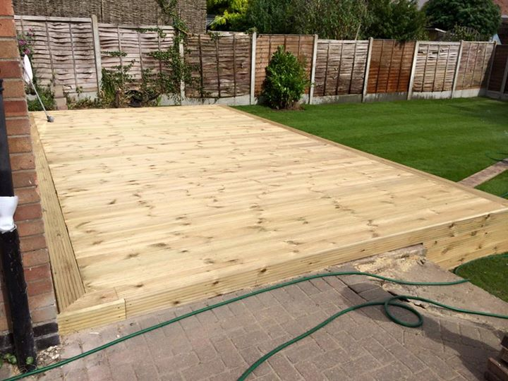 Large Decking Area Installed 4 By 7 Meters Garden Re