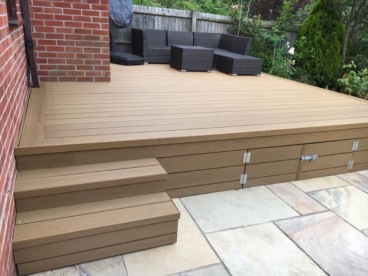 New Raised Composite Decking Project With Underneath